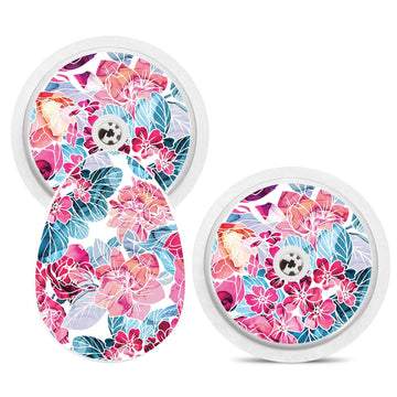 Bubble Smart Reader Sticker Decal: Floral Print
