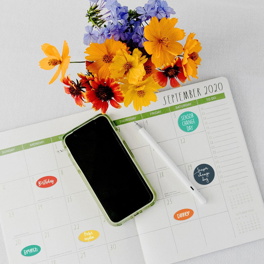 Freestyle Libre Sensor Change Planner Reminder Stickers - Type W1N