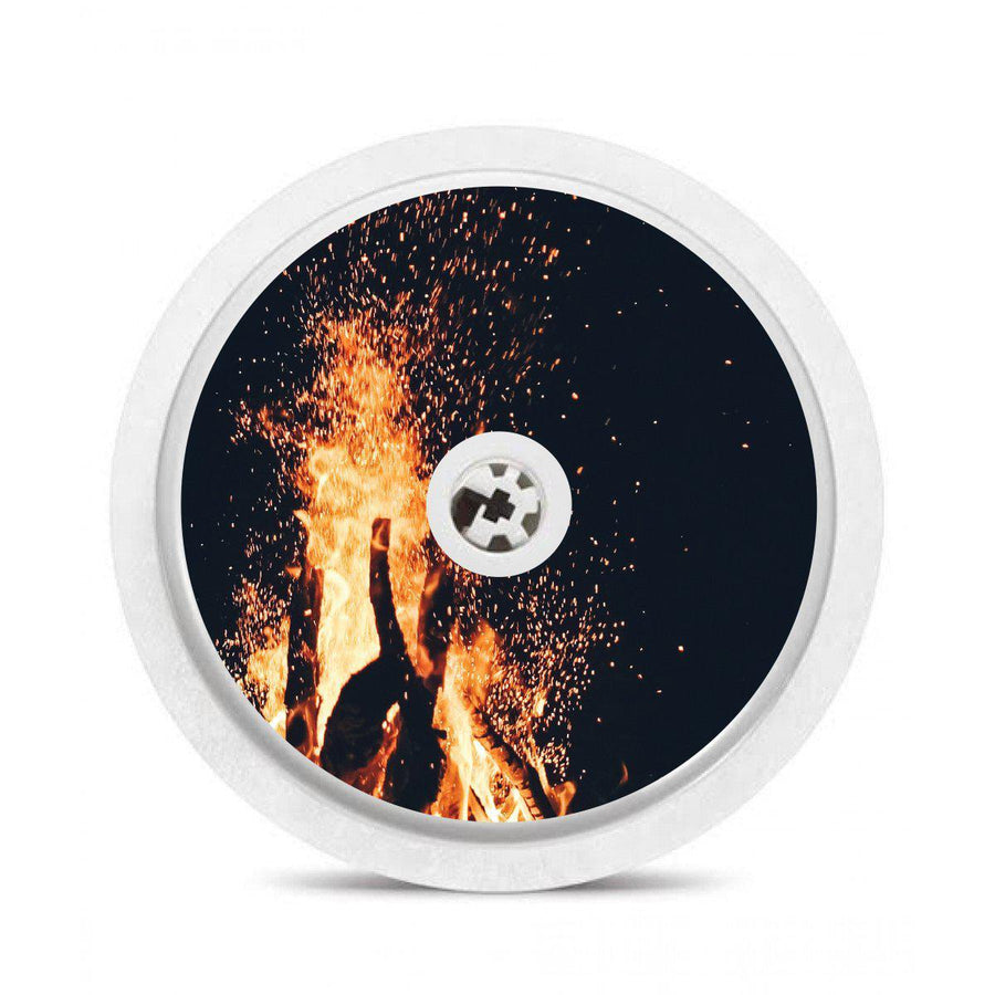 Freestyle Libre Sensor Sticker Decal: Abstract Fire