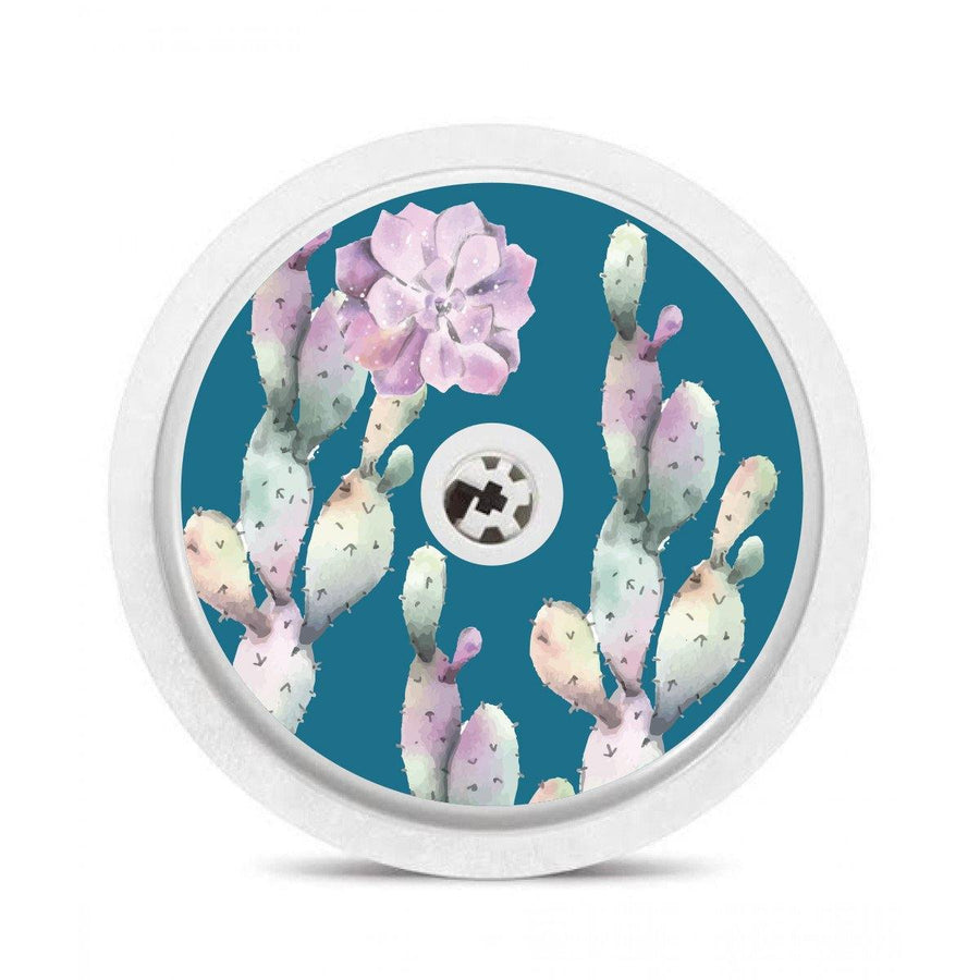 Freestyle Libre Sensor sticker decal: Blue Succulents