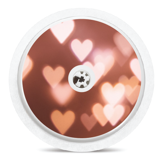 Heart Bokeh Freestyle Libre Sensor Sticker