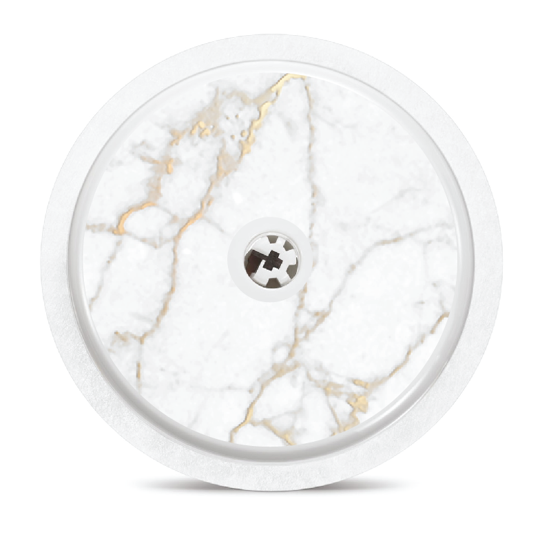 White & Gold Marble Freestyle Libre Sensor Stickers