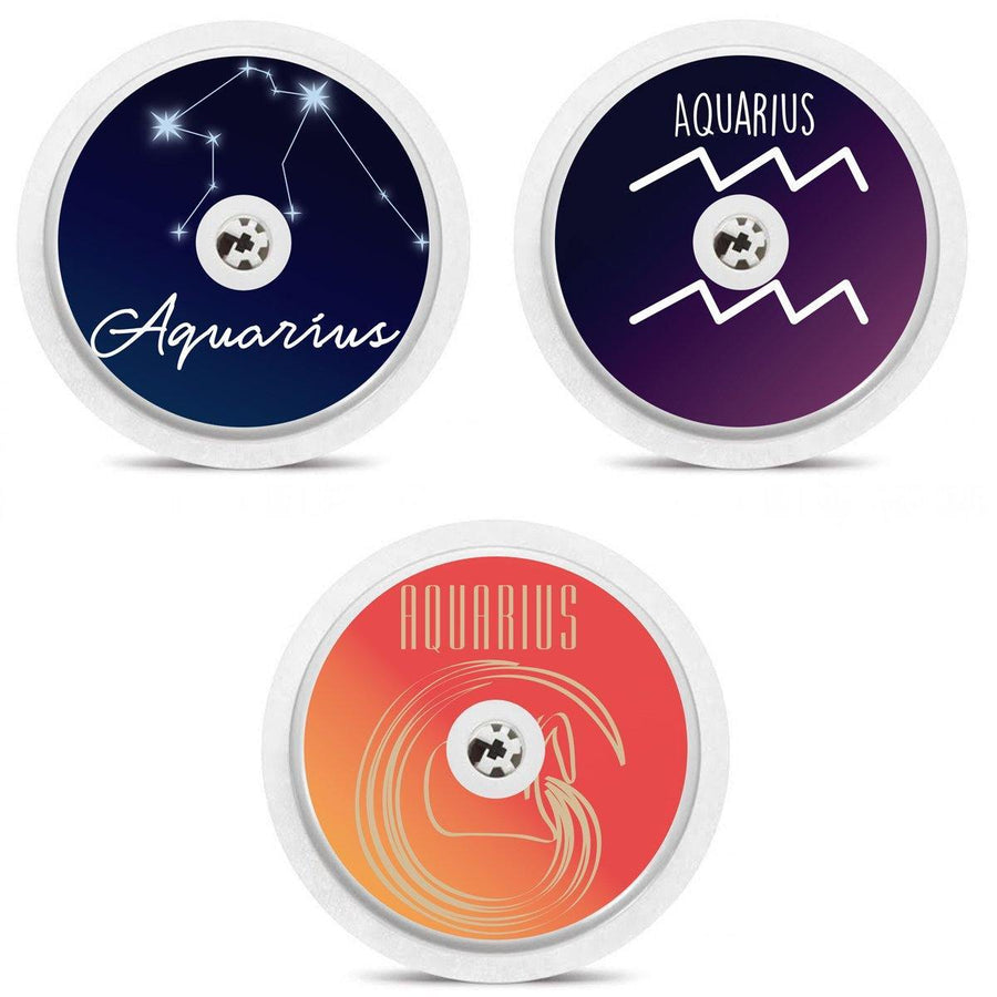 Set of 3 Horoscope Sign Freestyle Libre Sensor Stickers