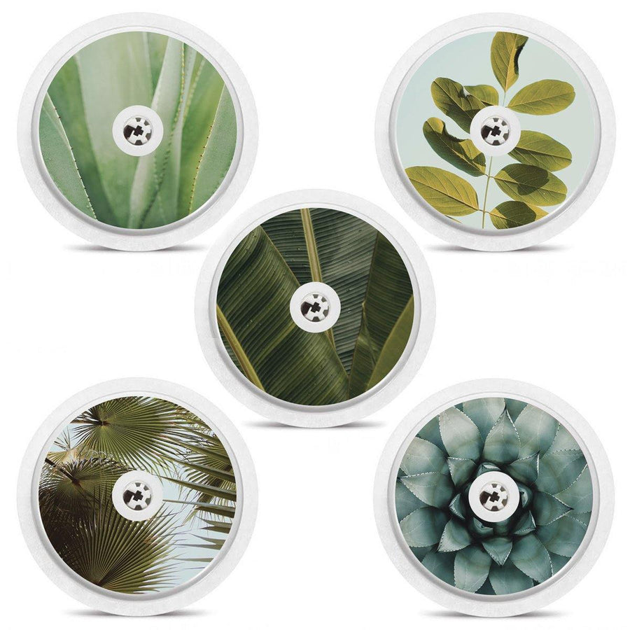 Freestyle Libre Sensor Sticker Set of 5 Foliage Themed Sensor Stickers