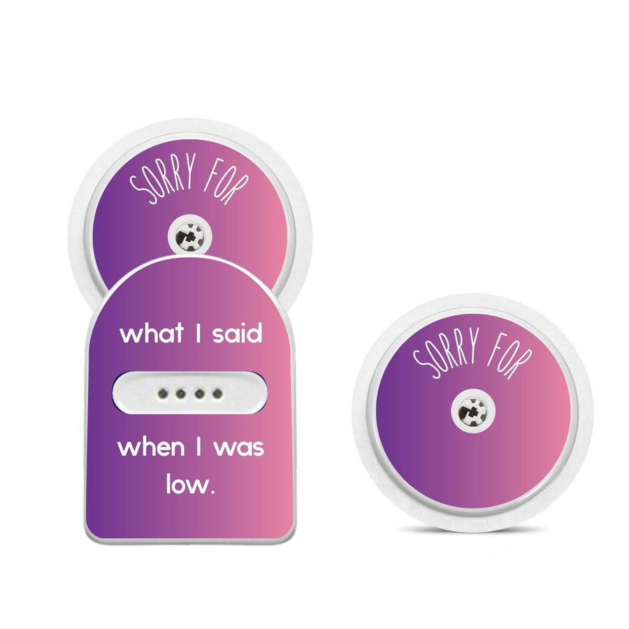 MIAO MIAO & Freestyle Libre Sensor Sticker Set: Sorry For What I said when I was low
