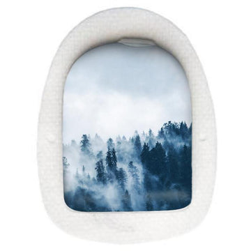 Foggy Mountains Omnipod Pod decal sticker