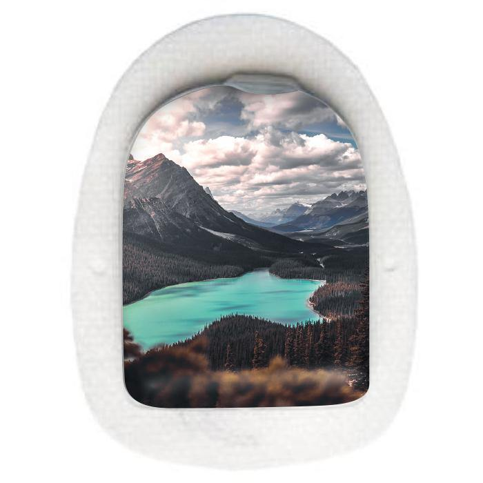 Omnipod Pod sticker decal: Peyto Lake