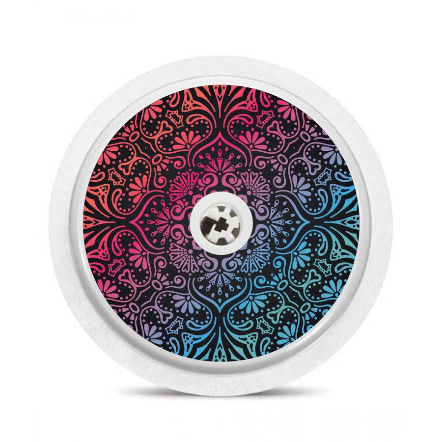 Freestyle Libre Sensor and Reader sticker set: Mandalas