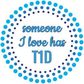 Diabetic Temporary Tattoo: Someone I love has T1D