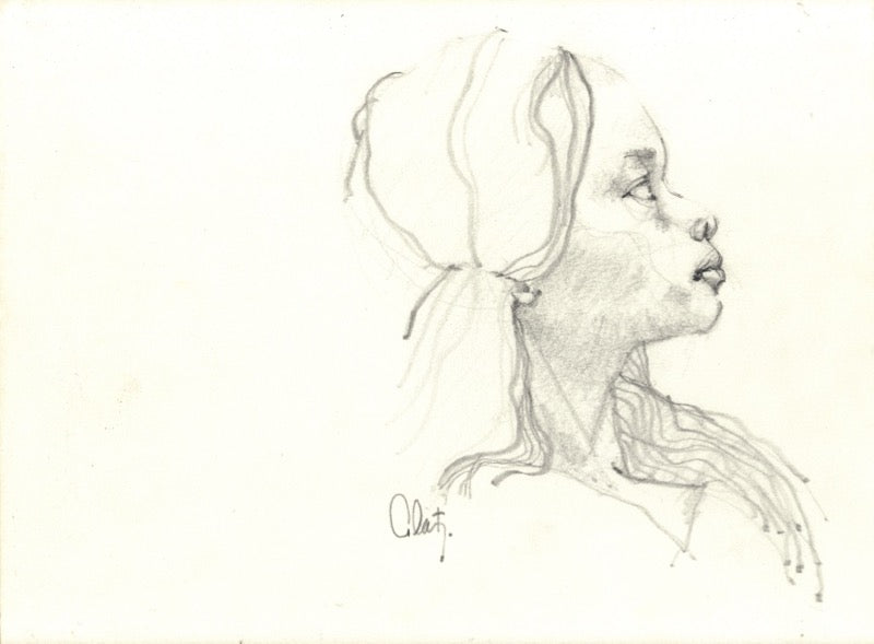 Profile of a Girl Sketch