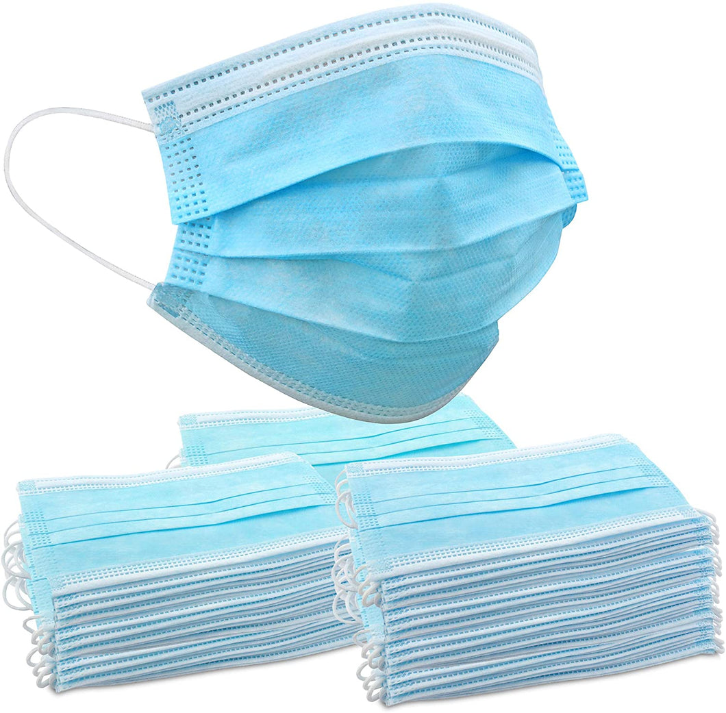 Wave Essentials - Wave Blue Disposable Face Masks for Adults & Kids | Bulk Pack