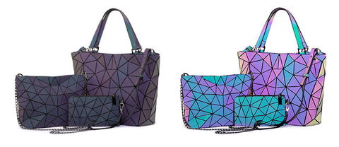 Aurora color-shifting bundle includes 1 messenger bag, 1 tote bag and 1 wallet from Aliens Gear store.