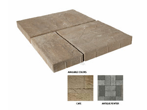 Panorama Supra 3-pc 15.75 in. x 15.75 in. x 2.25 in. Antique Pewter Concrete Paver (60 Pcs. / 103 Sq. ft. / Pallet)