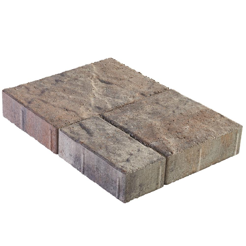 Panorama Demi Combo 3-pc 7.75 in. x 7.75 in. x 2.25 in. Stone Concrete Paver by Pavestone (240 Pcs. / 103 Sq. ft. / Pallet)