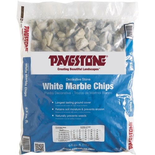 Pavestone .5 Cu. ft. Bagged White Marble Chips