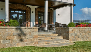 Stonegate 3-Piece Combo Retaining Wall Stones Tumbled (60 pcs / 26sq ft / pallet)