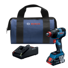 Load image into Gallery viewer, 18V Brushless Socket Ready Impact Driver Kit W/ (1) 4.0 Ah Core Compact Battery Bosch GDX18V-1800CB15