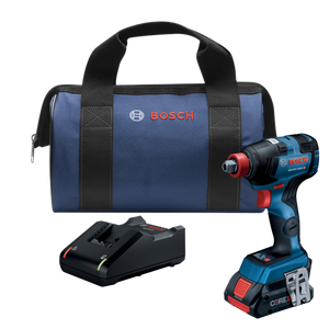 18V Brushless Socket Ready Impact Driver Kit W/ (1) 4.0 Ah Core Compact Battery Bosch GDX18V-1800CB15