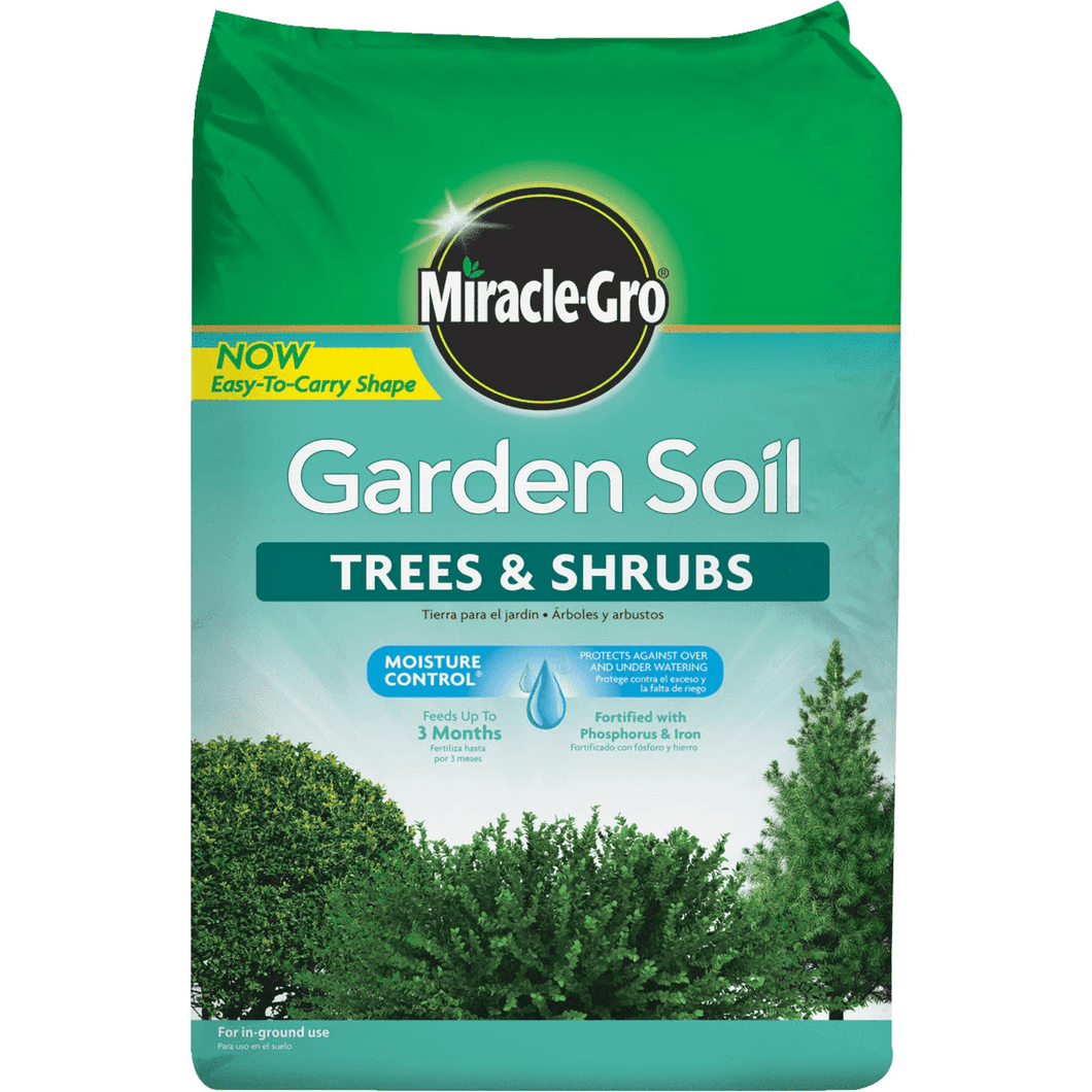 Miracle-Gro Garden Soil Trees & Shrubs 1.5 Cubic Feet Bag