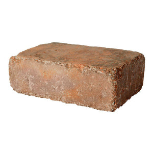 Rumbled Wall™ 4x8x16 Rectangle Fireplace Stone Tumbled Brick (70 pcs / pallet)