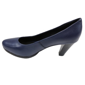 SOON - Dingo Dame Pumps Lær - Navy