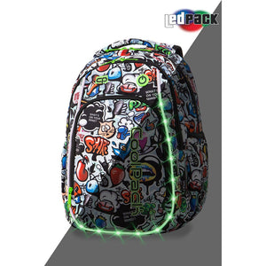 Coolpack Led Pack skolesekk-Strike S-Graffiti