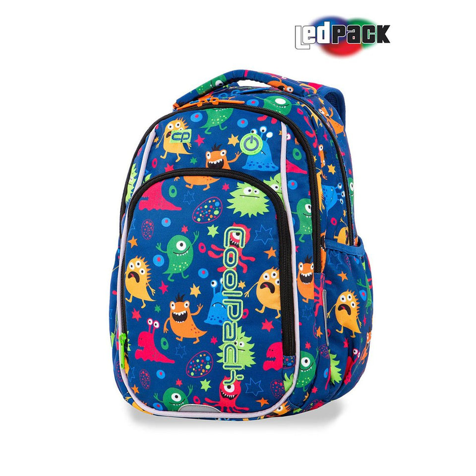 Coolpack LedPack skolesekk-Strike S-Funny Monsters