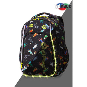 Coolpack LED skolesekk-Strike S-Rockets