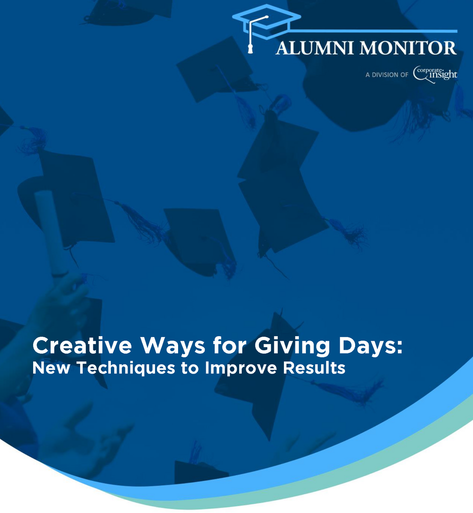 Creative Ways for Giving Days: New Techniques to Improve Results