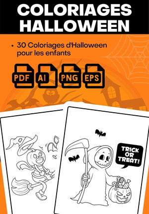 Coloriage Halloween Interieur KDP