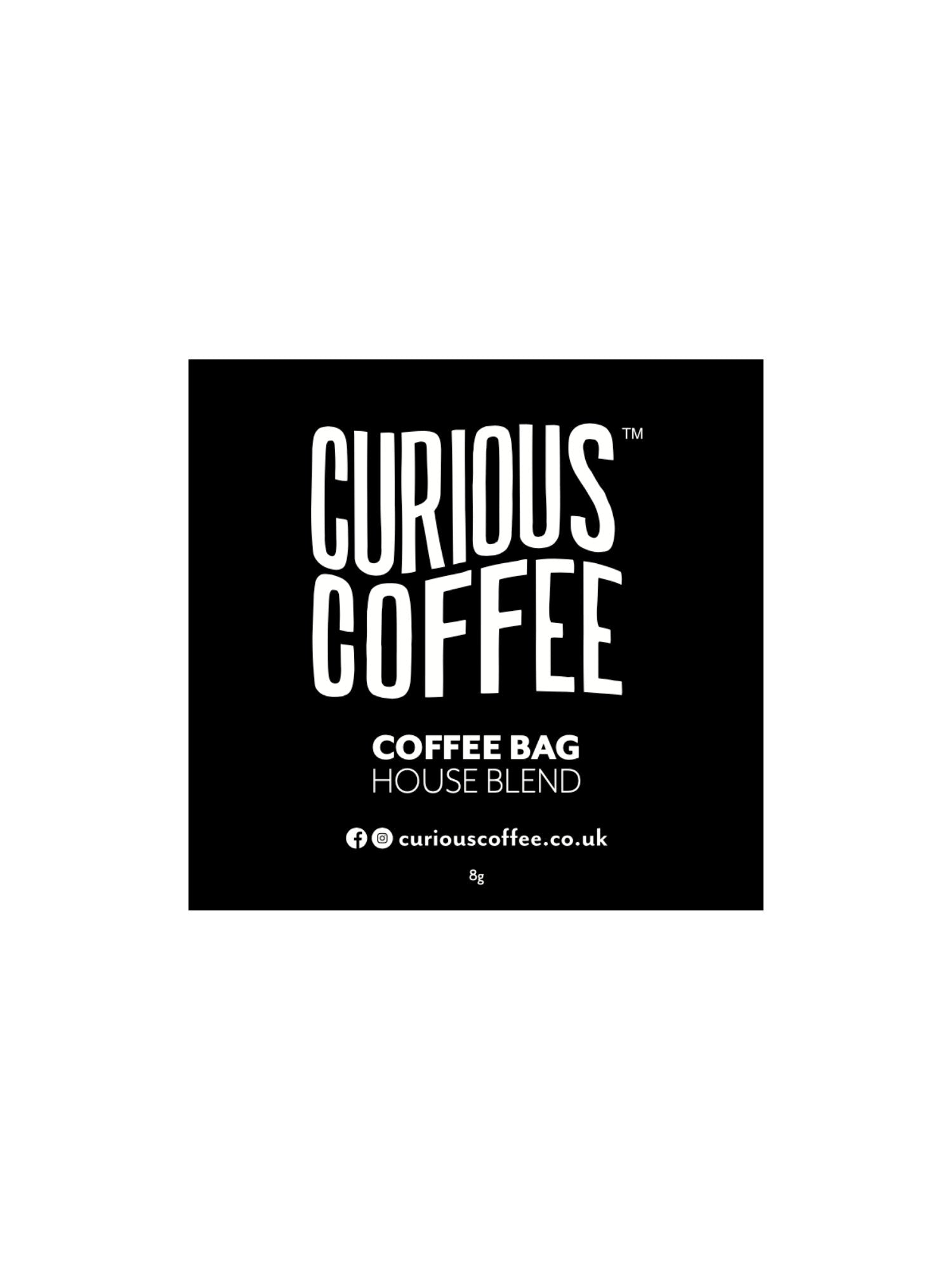 Curious Coffee - House Blend - One Cup Coffee Bags