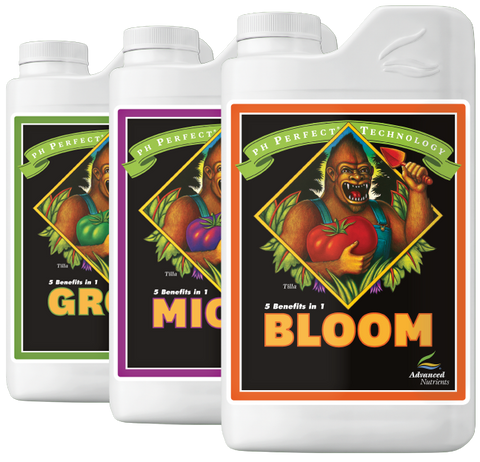 Advanced Nutrients - Grow / Micro / Bloom (pH Perfect) - NPK Technology Hydroponics