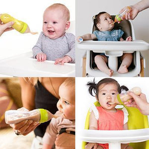 Baby Food Grade Silicone Squeeze Spoon