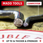 "1/4"" Pegboard J Hook Set 