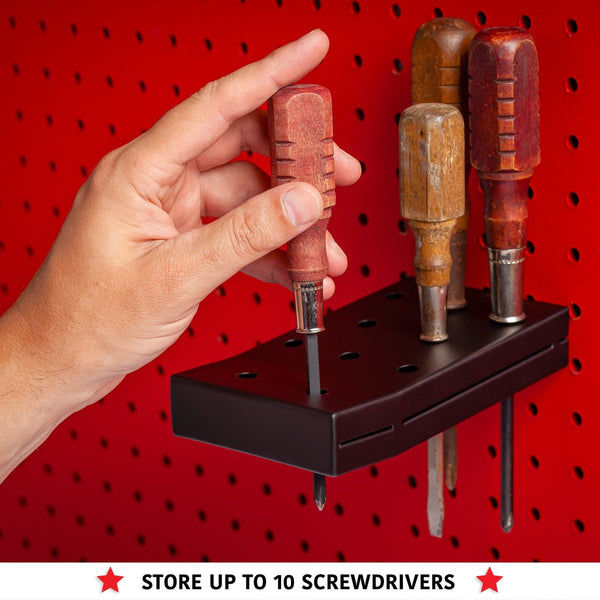 Pegboard (Small & Medium) Screwdriver Holder & Wrench Holder Set - Madd Tools