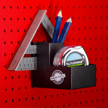 Pegboard Tape Measure Holder | Pegboard Carpenter's Essential