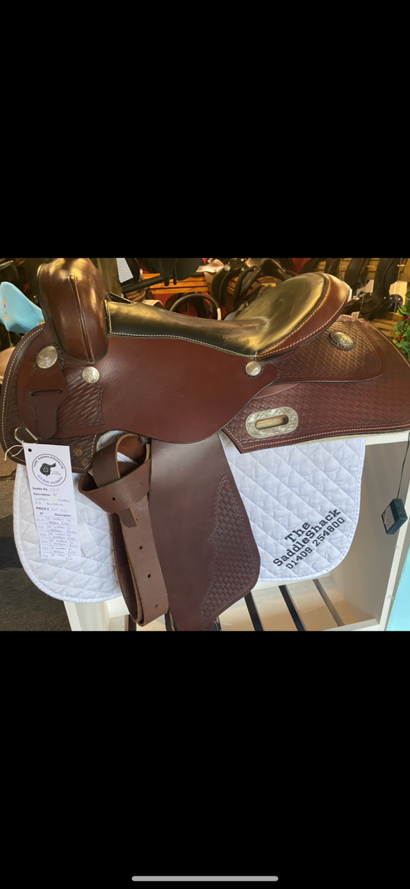 "#1121 16"" Western Saddle Narrow Fit"