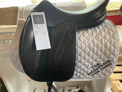 "#1176 17.5"" Butet  Dressage Saddle MED. REDUCED to £995.00"