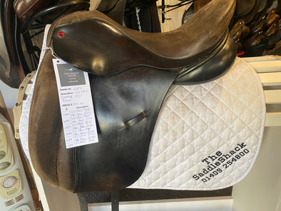 "#1289 17.5"" Albion Dressage Saddle, M/W"