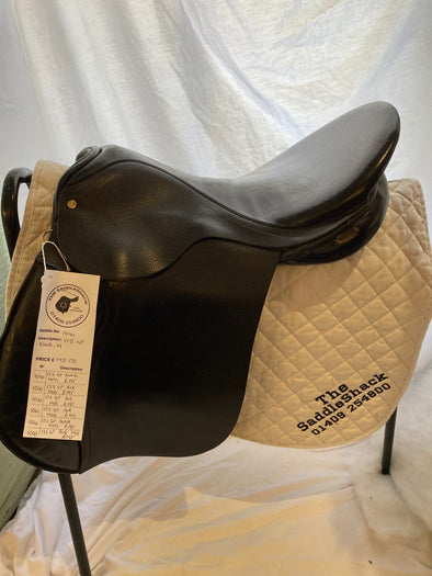 "#1041 17.5"" Walsall Made General Purpose Saddle M Black"