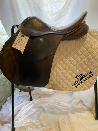 "#0909 17"" Wychanger General Purpose Saddle M Brown"