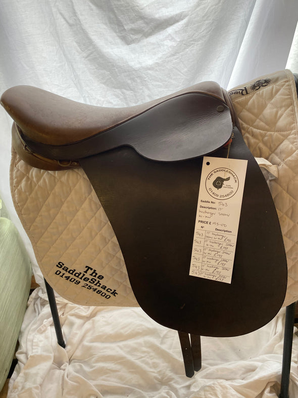 "#0543 17"" Wychanger Show Saddle XXW Brown"