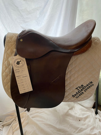 "#0832 17"" Jeffries Working Hunter Saddle/ Show M-M/W Brown"