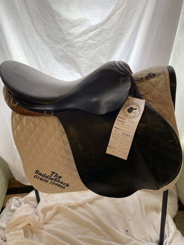 "#0896 17.5"" Stubben Jumping Saddle W Black"