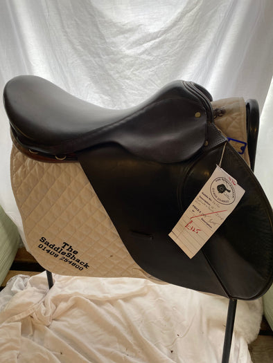 "#0416 18"" Calcott & Sons Jumping saddle N/M Black/Tan"
