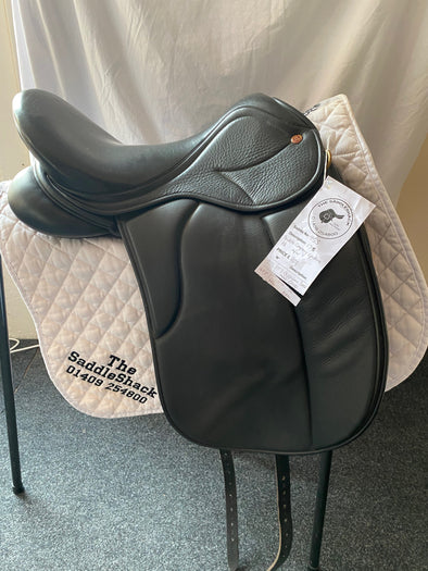 "#0955 17"" Saddle Company Dressage Saddle M/W Black"