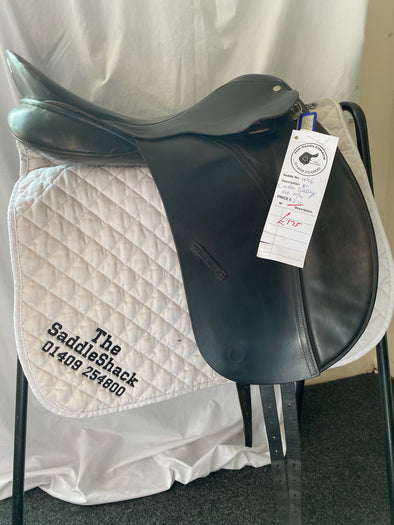 "#0426 18"" Carlton Dressage Saddle M-N Black"