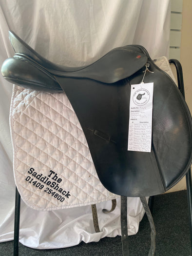 "#0968 18.5"" Albion Dressage Saddle M Black"