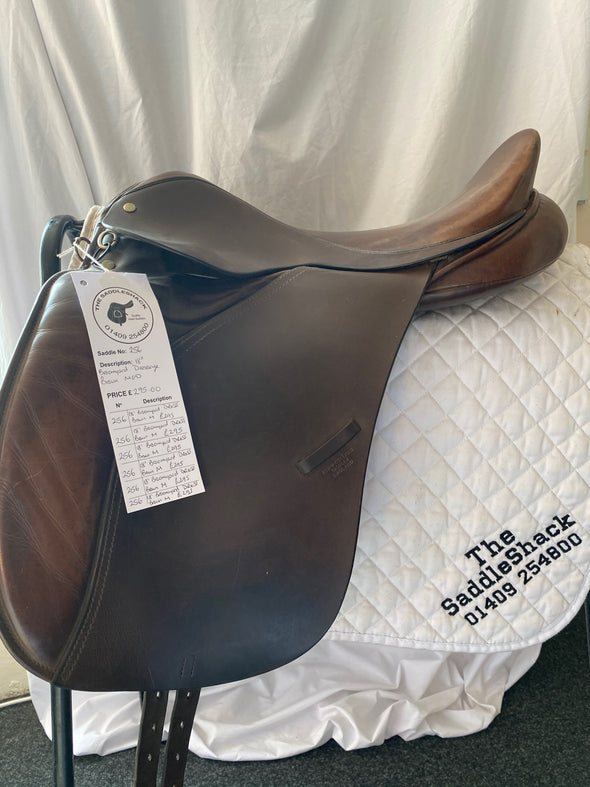 "#0256 18"" Broomyard Dressage Saddle M Brown"