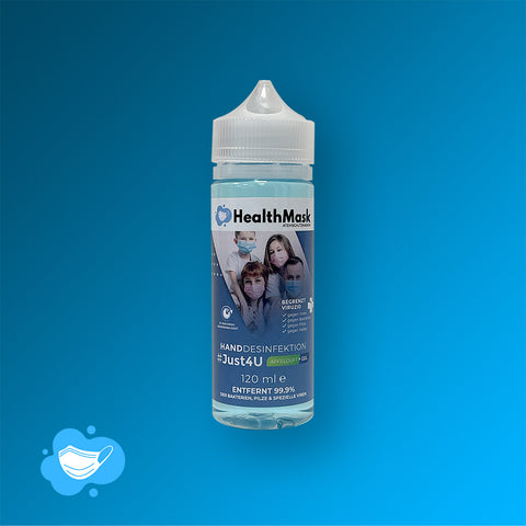 HealthMask #Just4U Handdesinfektionsgel mit Apfelduft MADE in GERMANY - 120ml - HealthMask